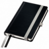 Caiet A6 80 file matematica coperti rigide negru satin, LEITZ Style