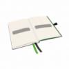 Caiet A6 80 file matematica coperti rigide negru, LEITZ Complete