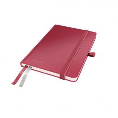 Caiet A6 80 file matematica coperti rigide rosu, LEITZ Complete