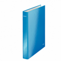 Caiet mecanic A4 2 inele 25mm albastru metalizat, LEITZ WoW