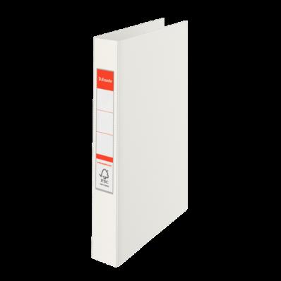 Caiet mecanic A4 2 inele 35mm PVC alb, ESSELTE Standard Vivida