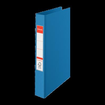 Caiet mecanic A4 2 inele 35mm PVC albastru, ESSELTE Standard Vivida