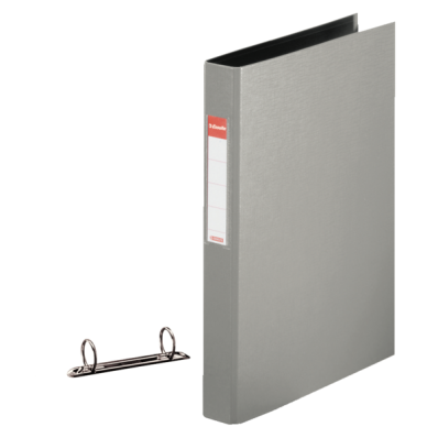 Caiet mecanic A4 2 inele 35mm PVC gri, ESSELTE Standard