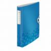 Caiet mecanic A4 4 inele 30mm albastru metalizat, LEITZ Active Softclick WoW
