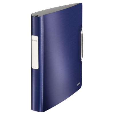 Caiet mecanic A4 4 inele 30mm albastru violet, LEITZ Active Softclick Style