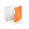 Caiet mecanic A4 4 inele 30mm portocaliu metalizat, LEITZ Active Softclick WoW