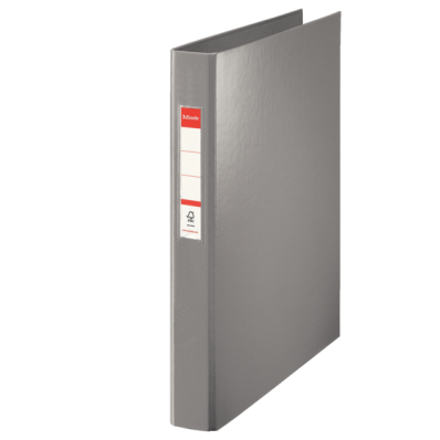 Caiet mecanic A4 4 inele 35mm PVC gri, ESSELTE Standard