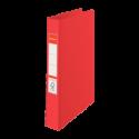 Caiet mecanic A4 4 inele 35mm PVC rosu, ESSELTE Standard Vivida