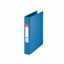 Caiet mecanic A5 2 inele 35mm PVC albastru, ESSELTE Standard Vivida