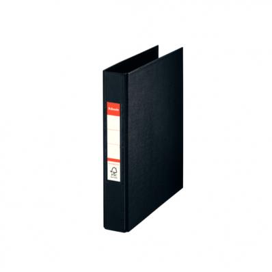 Caiet mecanic A5 2 inele 35mm PVC negru, ESSELTE Standard Vivida