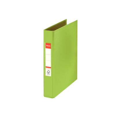 Caiet mecanic A5 2 inele 35mm PVC verde, ESSELTE Standard Vivida