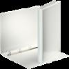 Caiet mecanic cu buzunar A4 4 inele 30mm PP alb, ESSELTE Panorama