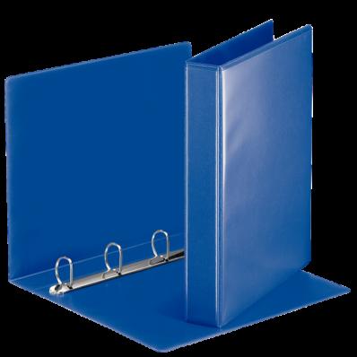 Caiet mecanic cu buzunar A4 4 inele 51mm albastru, ESSELTE Panorama