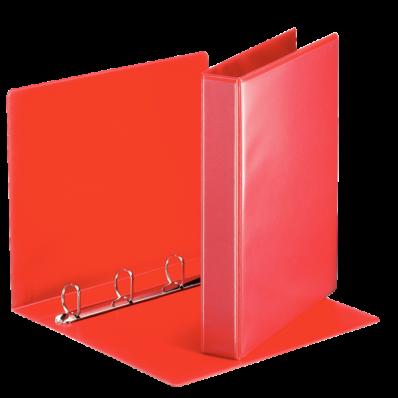 Caiet mecanic cu buzunar A4 4 inele 51mm rosu, ESSELTE Panorama