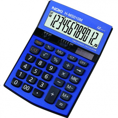 Calculator de birou 12 Digits albastru, NOKI HMS010