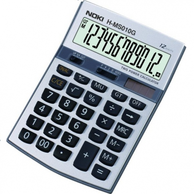 Calculator de birou 12 Digits gri, NOKI HMS010