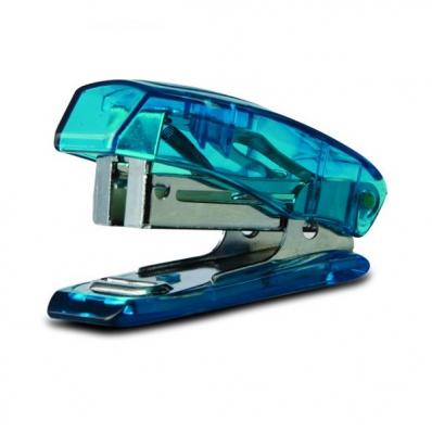 Capsator 24/6 20 coli albastru transparent, NOKI S-3T