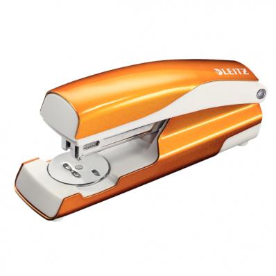 Capsator 24/6 30 coli portocaliu metalizat, LEITZ 5502