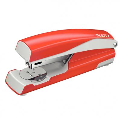 Capsator 24/6 30 coli rosu deschis, LEITZ 5502