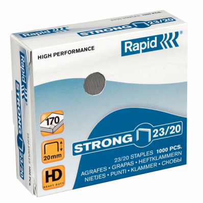 Capse 23/20 1000 buc/cut, RAPID Strong