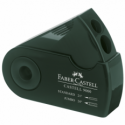 Ascutitoare plastic dubla cu container verde, FABER-CASTELL Sleeve