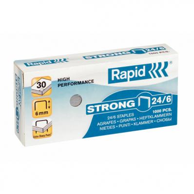 Capse 24/6 1000 buc/cut, RAPID Strong