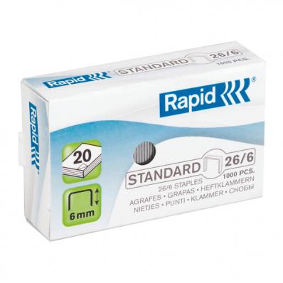 Capse 26/6 1000 buc/cut, RAPID Standard