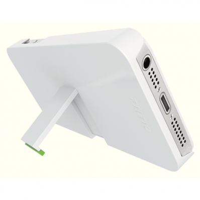 Carcasa cu stativ iPhone 5 alba, LEITZ Complete