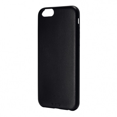 Carcasa soft touch iPhone 6 neagra, LEITZ Complete