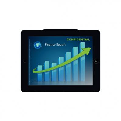 Carcasa tableta cu filtru de confidentialitate landscape pentru noul iPad/iPad 2 neagra, LEITZ Complete Privacy