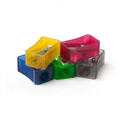 Ascutitoare plastic simpla culori fluorescente, FABER-CASTELL
