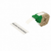 Cartus cu etichete din hartie banda continua 25mm x 22m alba cu adeziv permanent, LEITZ Icon