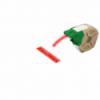 Cartus cu etichete din plastic banda continua 12mm x 10m rosie cu adeziv permanent, LEITZ Icon