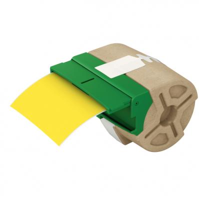Cartus cu etichete din plastic banda continua 88mm x 10m galbena cu adeziv permanent, LEITZ Icon
