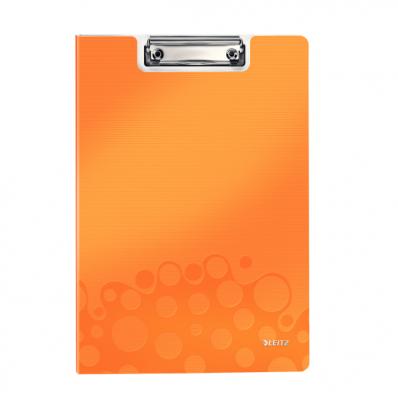 Clipboard dublu PP portocaliu metalizat , LEITZ WoW