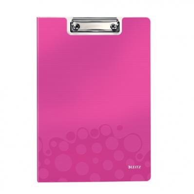 Clipboard dublu PP roz metalizat , LEITZ WoW