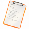 Clipboard simplu PS portocaliu metalizat , LEITZ WoW
