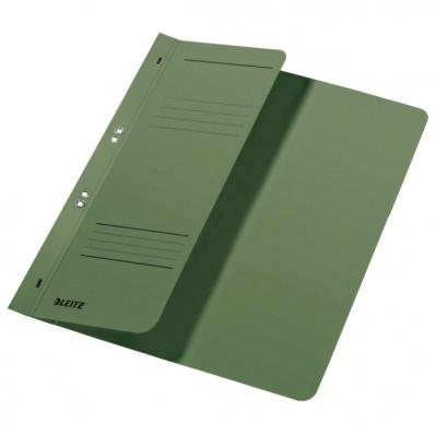 Dosar carton cu capse 1/2 verde, LEITZ
